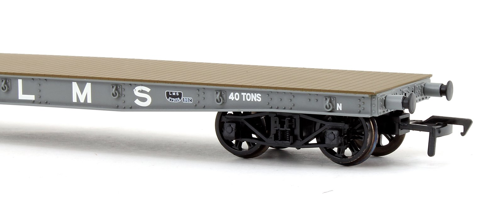 War Office 'Parrot' Bogie Wagon in LMS Grey livery