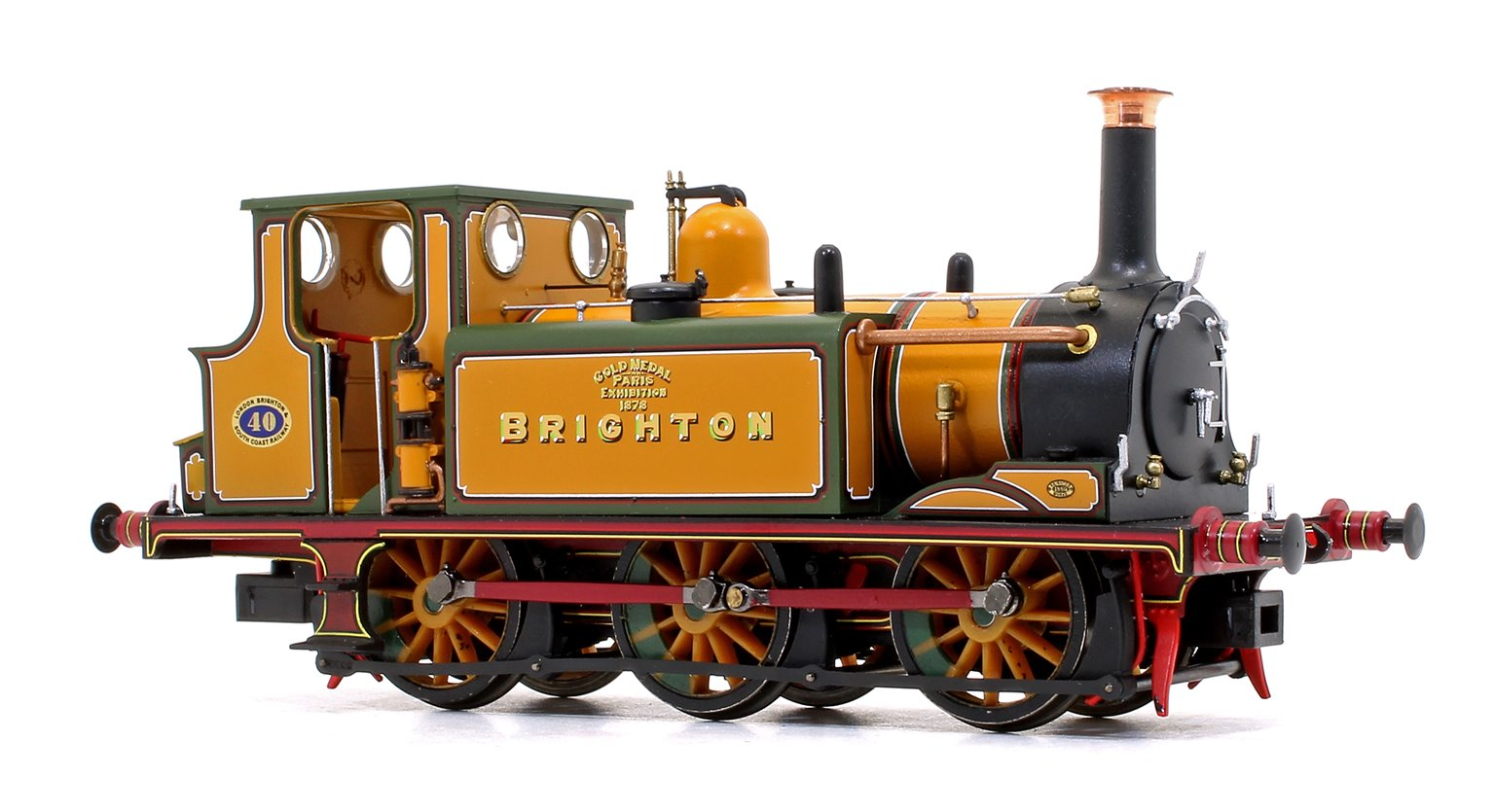 Stroudley Terrier A1 Class LBSC Stroudley Improved Engine Green Brighton Gold 0-6-0 Tank Locomotive DCC Ready
