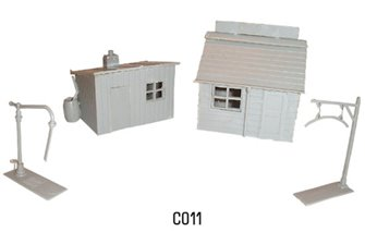 Players hut, coal office, water crane kits