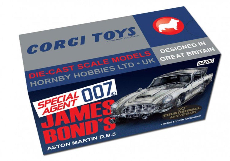 Corgi box of six James Bond 007 Aston Martin DB5 Thunderball 50th Anniversary (one gold, five silver)