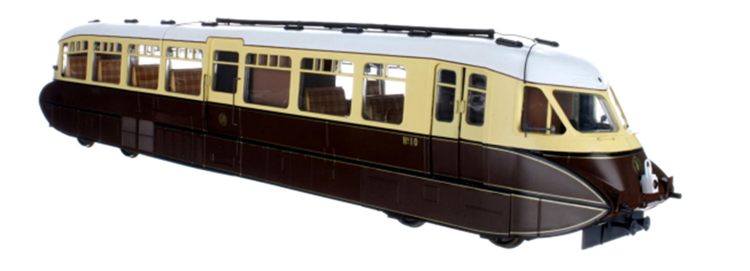 Streamlined Railcar W11 BR Lined Chocolate & Cream DCC