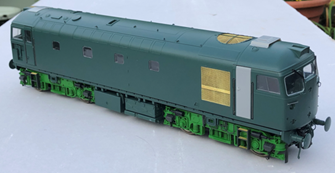 Class 26 Railfreight Red Stripe unnumbered (white cantrail stripe)