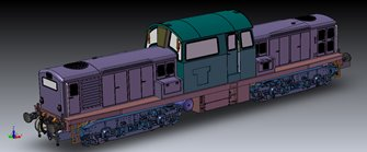 Class 17 Clayton BR Green with small yellow warning panel Diesel Locomotive D8555
