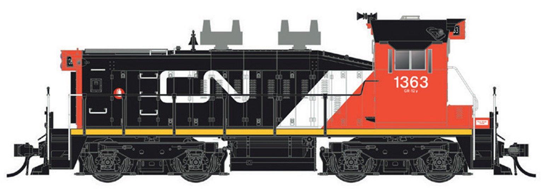CN SW1200RS: Small Noodle #1350 - DC/DCC/Sound