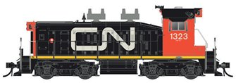 CN SW1200RS: Noodle w/Red Cab #1375 - DC/Silent