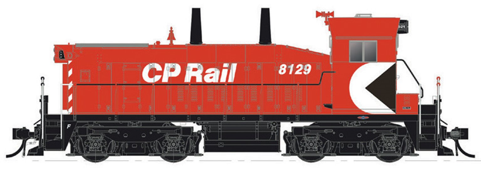 """HO Scale CP SW1200RS: Action Red (5"""") #8132 - DC/DCC/Sound"""