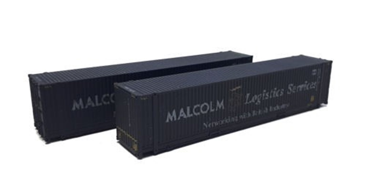 45ft Containers Malcolm Logistics 450012-2/450049-9 Weathered