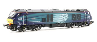 "Class 68 68002 ""Intrepid"" in DRS livery DCC Fitted"