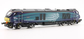 "Class 68 68005 ""Defiant"" in DRS livery DCC Fitted"