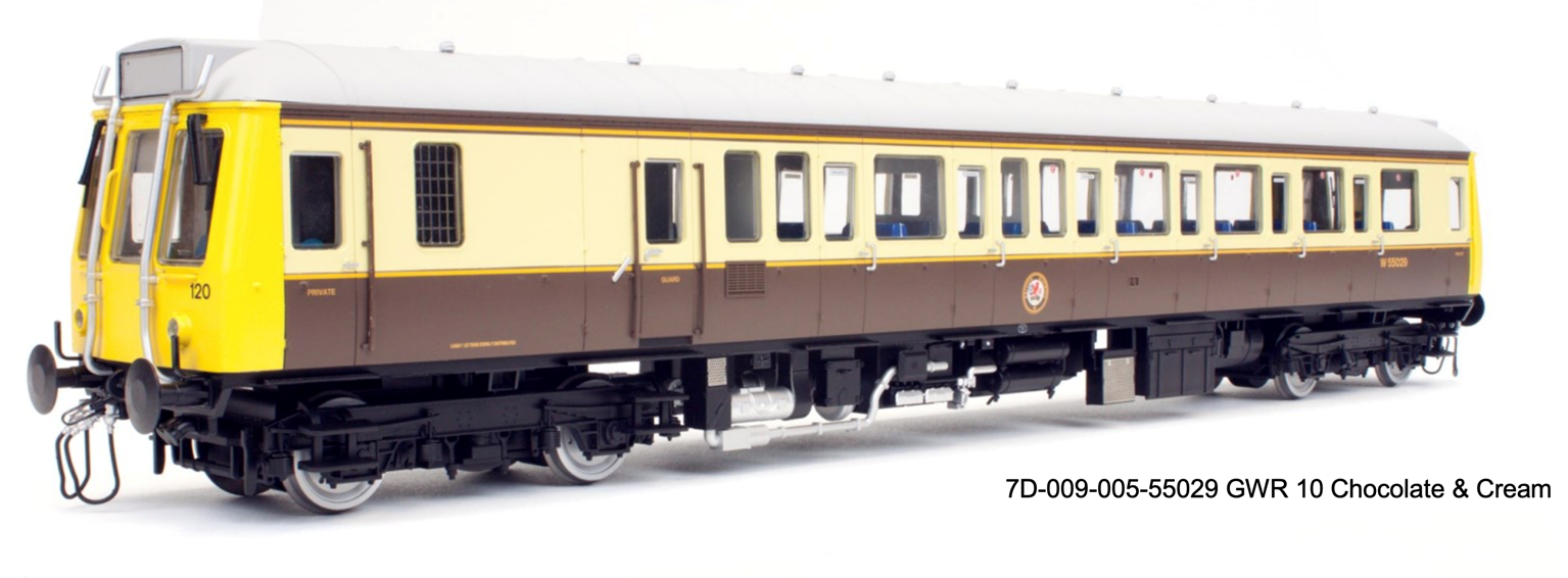Class 121 W55029 GWR 150 Chocolate and Cream - DCC Fitted