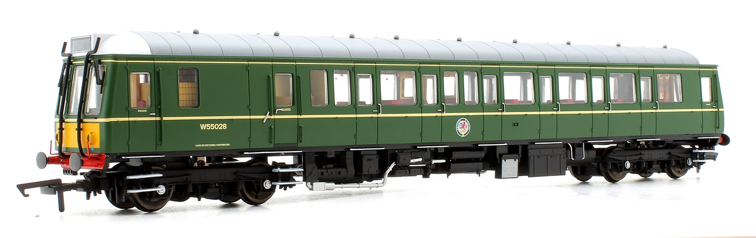 Class 121 #W55028 BR Green Small Yellow Panel