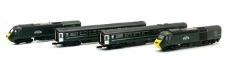Class 43 HST GWR Green 43187/188 4 Car Set