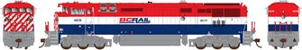 Prime Movers Dash 8-40CM Locomotive - BCR #4623 - DC/Silent