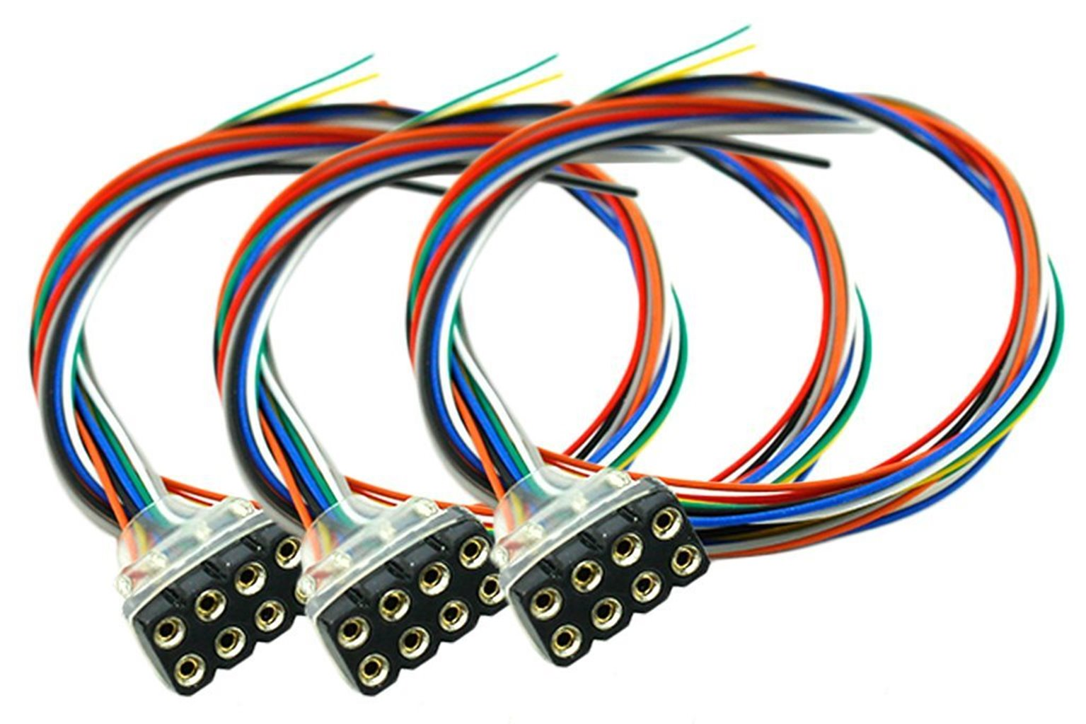 Decoder Harness 8 Pin Female (200mm) (3 Pack)