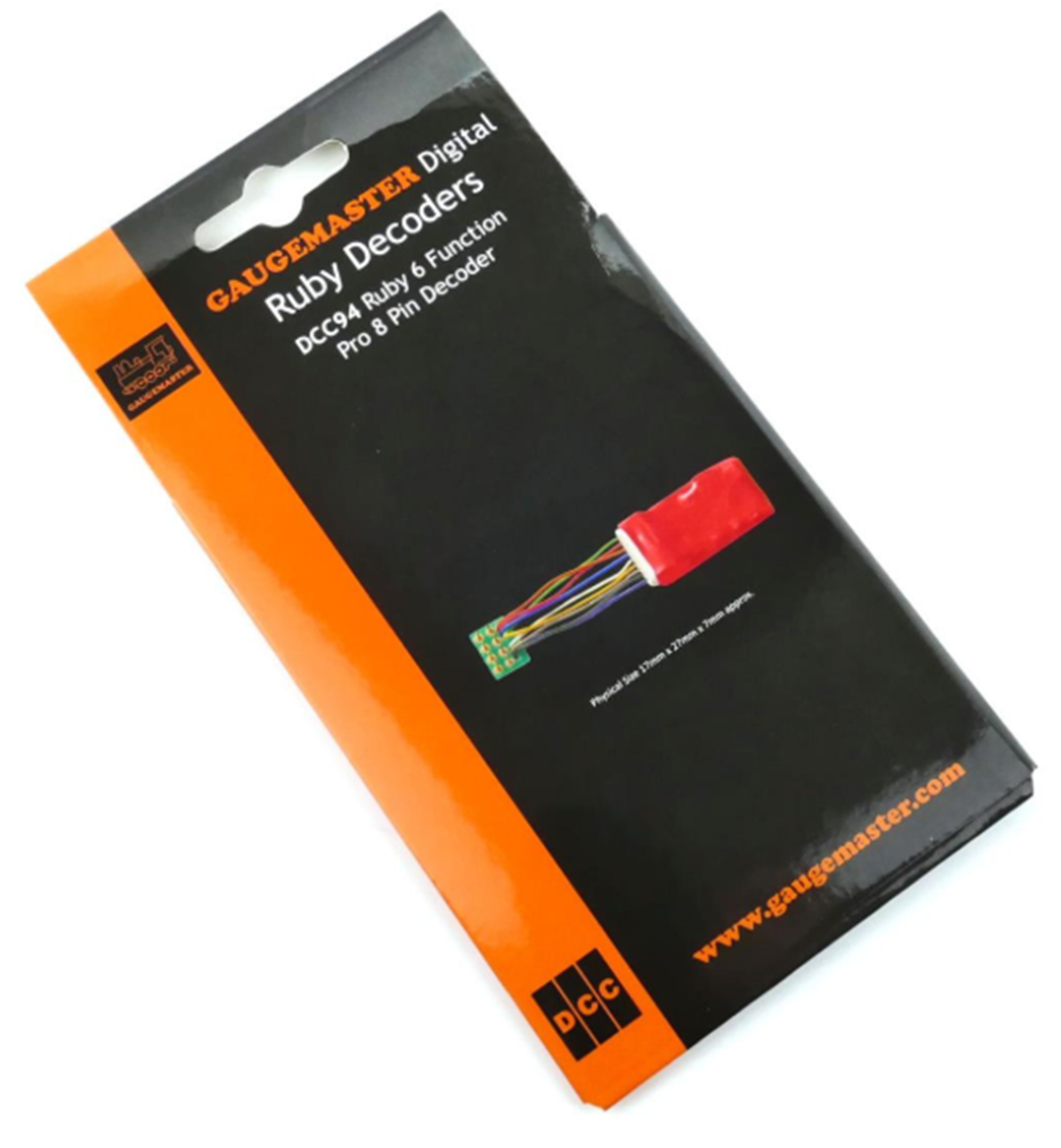 Ruby Series 6 Function Pro DCC Decoder 8 Pin