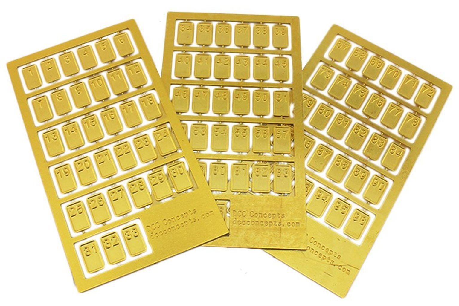 Cobalt-S Numbers Etched Brass (Numbers 1~99)