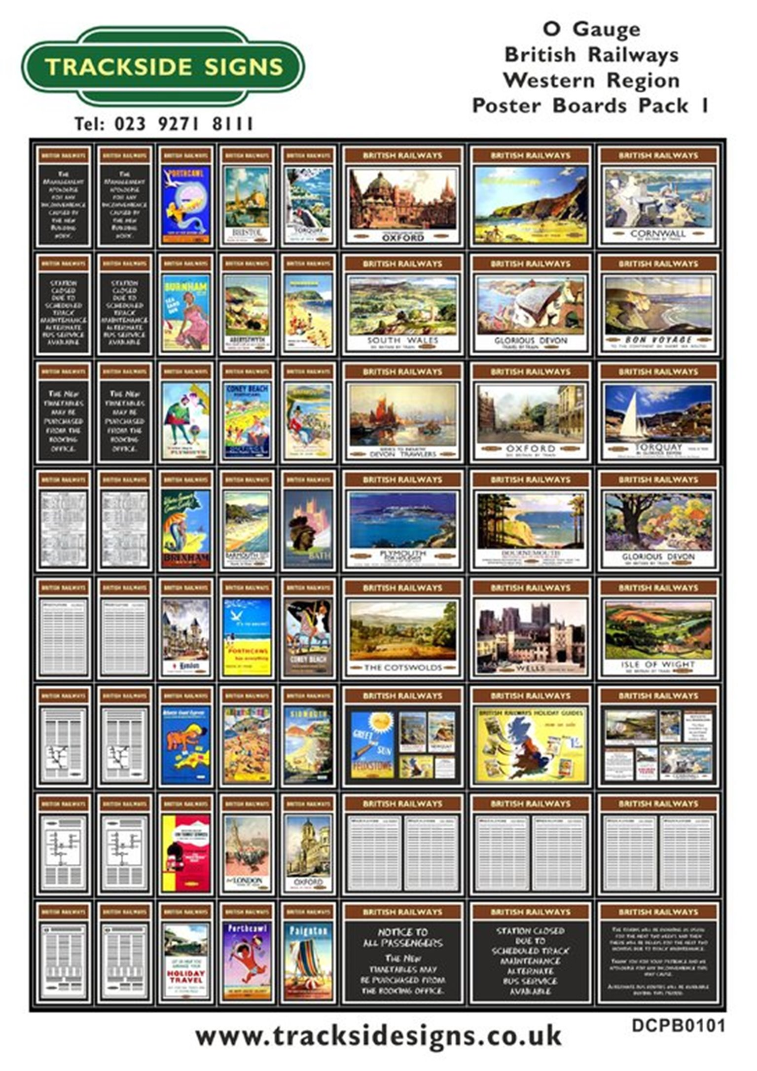 Die Cut BR Western Region Poster Boards