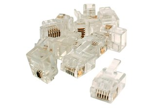 6P6C Connectors  (For DCC Data Bus)  (12 Pack)