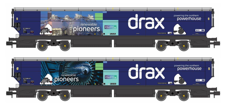 Drax Power IIA-D Biomass Hopper Twin Pack (Renewable Pioneers Drax Livery) - Pack B