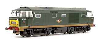 Class 35 Hymek D7021 BR Green (Small Yellow Panels) Diesel Locomotive Weathered Edition