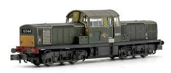 Class 17 D8511 BR Green (Small Yellow Panels) Weathered Edition