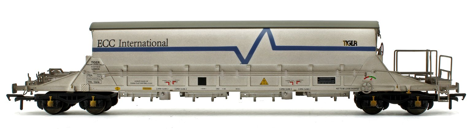 PBA Tiger Wagon TRL 11616 ECC International White (Weathered)