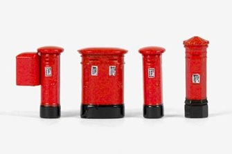 Pack of 4 Assorted Post Boxes