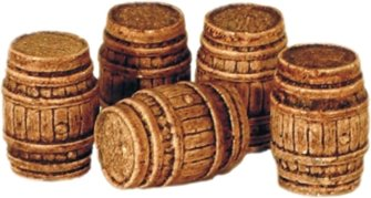 5 Large Oak Casks