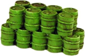 Stack of Oil Drums (Green)