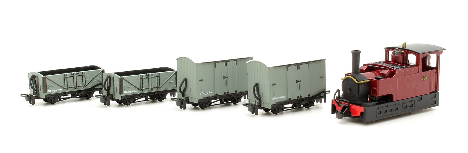 FOURDEES LIMITED OO9 SCALE - 41-108 - FREELANCE CLOGHER TRAIN PACK - MAROON