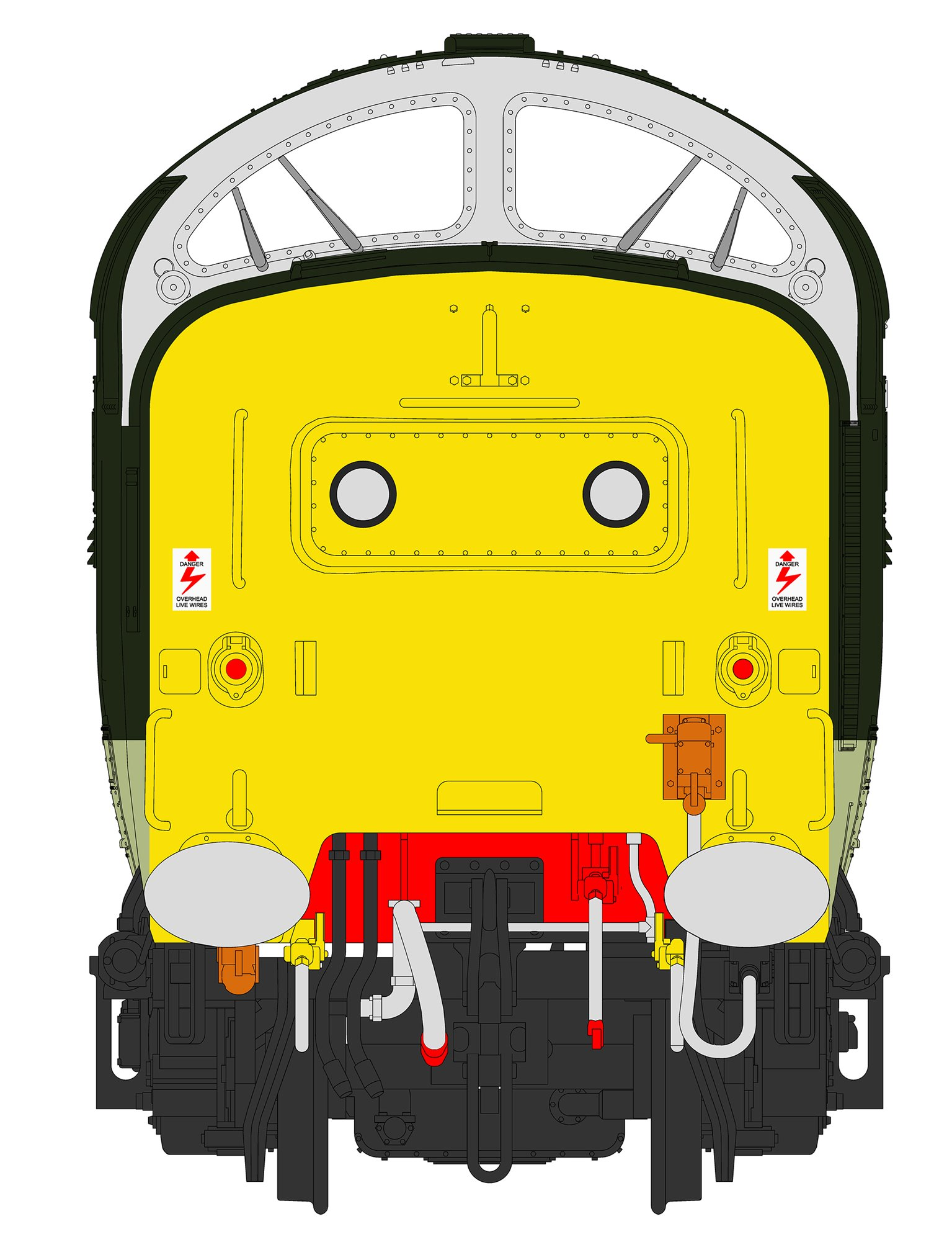 'Kings Own Yorkshire Light Infantry' Class 55 002 Deltic in Two Tone Green with full yellow ends (1980) - DCC SOUND