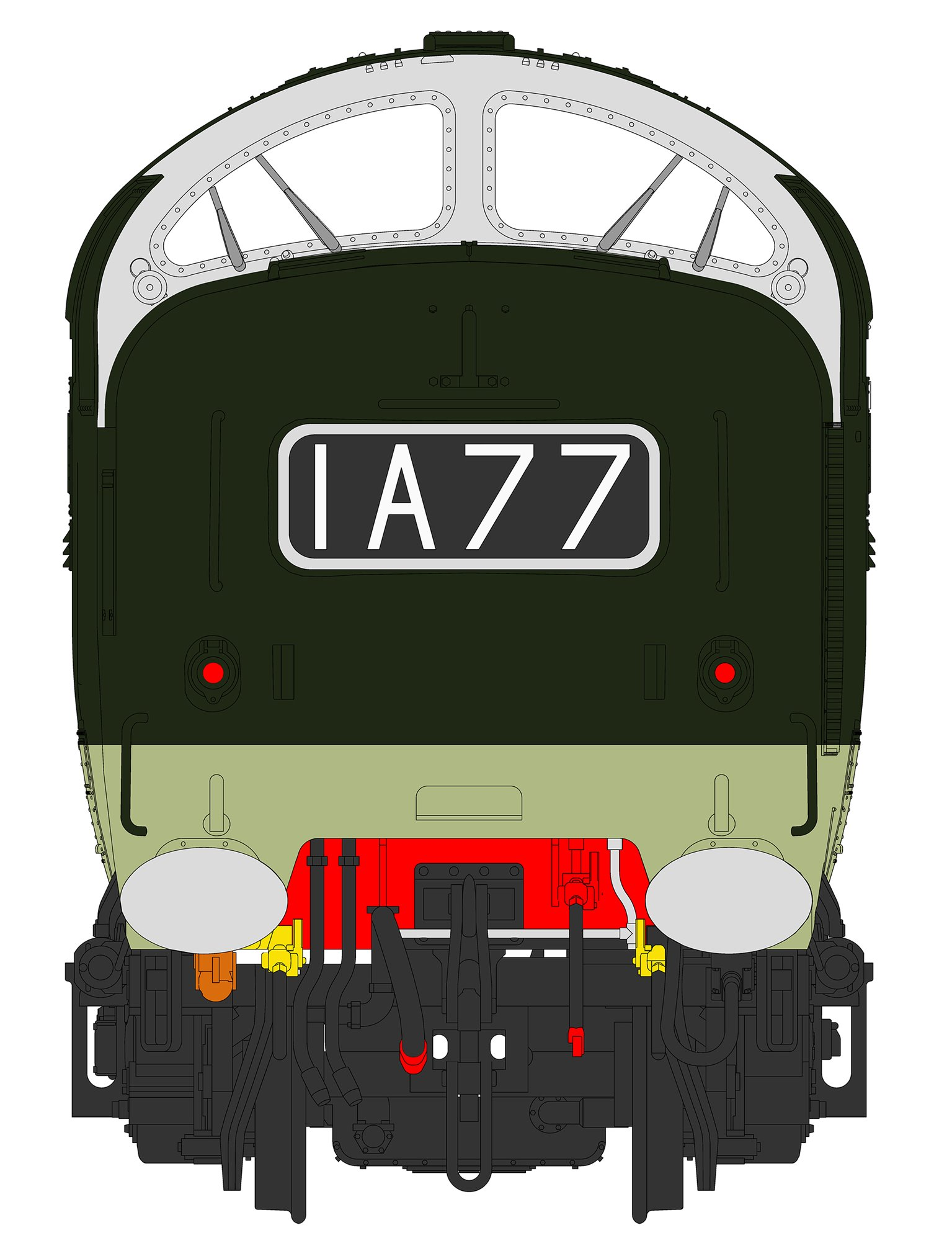 'The Green Howards' Class 55 D9008 Deltic in ex-works Green livery (As delivered July 1961)