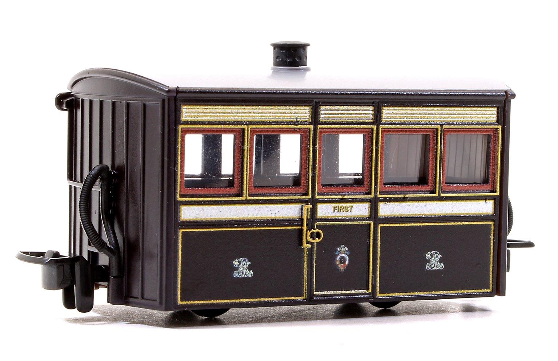 Ffestiniog 'Bug Box' First Class Coach, FR  Victorian Plum & Cream