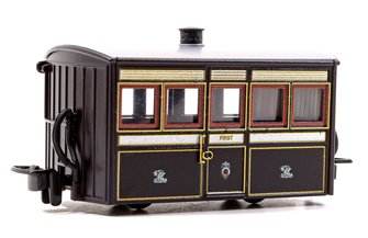 Ffestiniog 'Bug Box' First Class Coach, FR  Victorian Plum & Cream