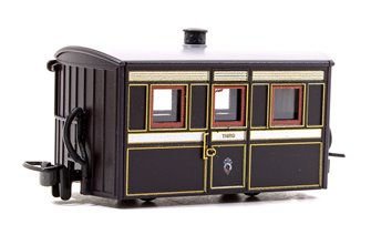 Ffestiniog 'Bug Box' Third Class Coach, FR  Victorian Plum & Cream