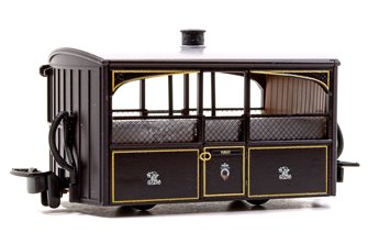 Ffestiniog 'Bug Box' Zoo Car Coach, FR  Victorian Plum & Cream