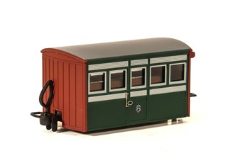Ffestiniog Railway 'Bug Box' 4 Wheel Coach 1st Class Early Preservation Livery