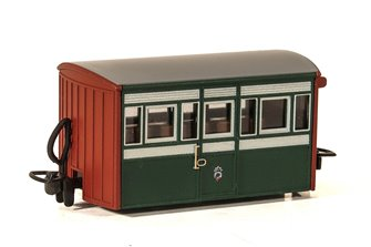 Ffestiniog Railway 'Bug Box' 4 Wheel Coach 3rd Class Early Preservation Livery