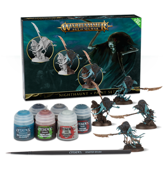 Warhammer Age of Sigmar Nighthaunt + Paint Set