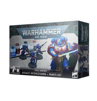 Warhammer 40,000 Space Marines: Assault Intercessors + Paints Set