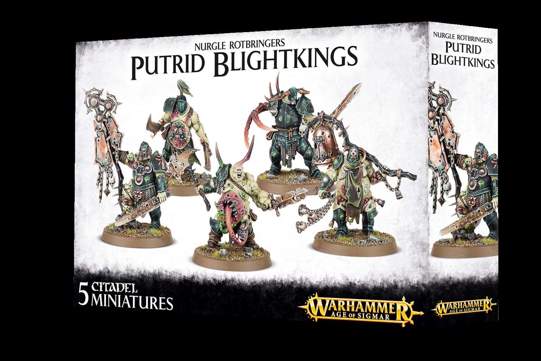 Warhammer Age of Sigmar Nurgle Rotbringers Putrid Blightkings