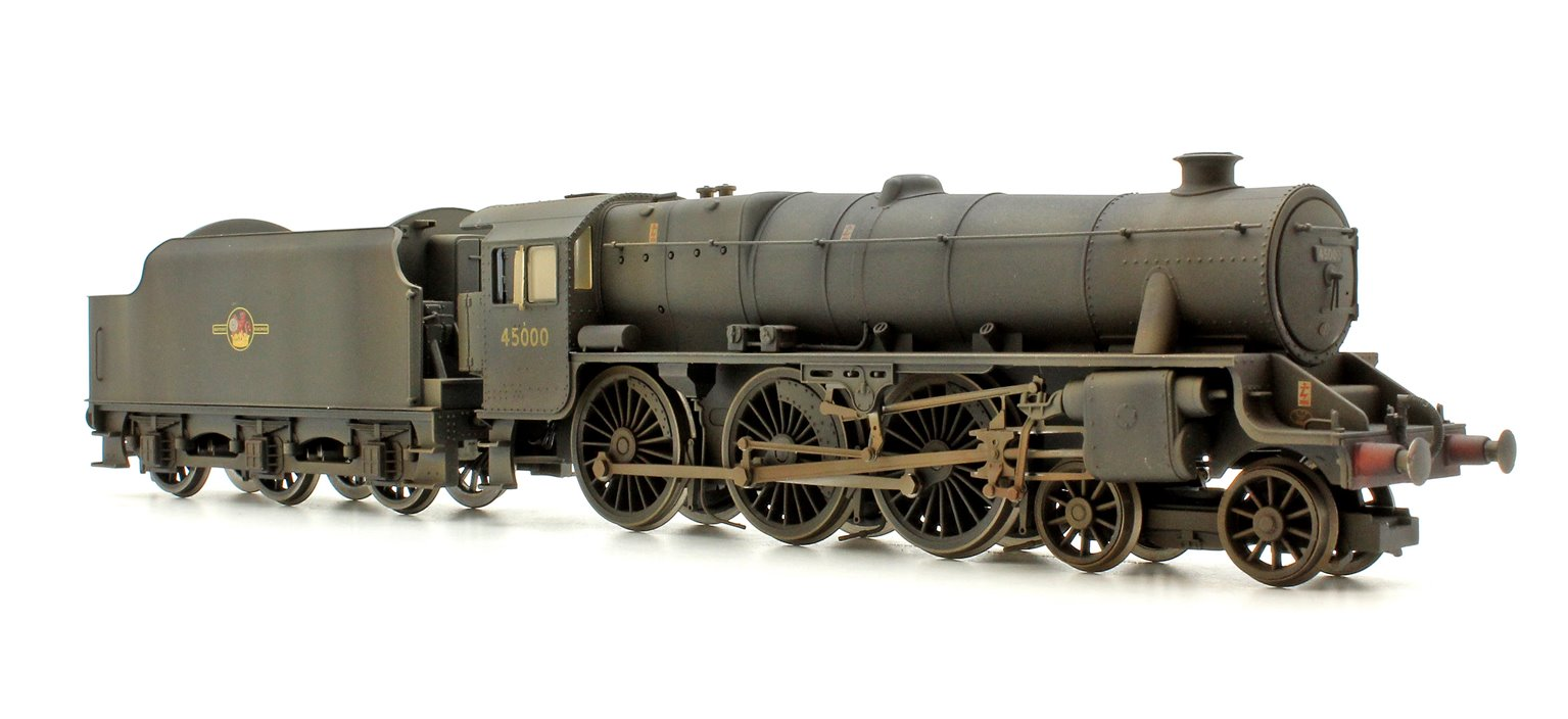 BR (Late) Black 5 Class 4-6-0 Steam Locomotive No.45000 DCC with TTS Sound! - Heavily Weathered
