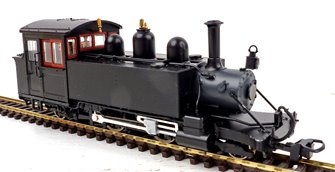 Lynton & Barnstaple Baldwin 2-4-2T Works black unnumbered