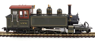 Lynton & Barnstaple Baldwin 2-4-2T L&BR dark olive green Lyn (pre-1906 original chimney)