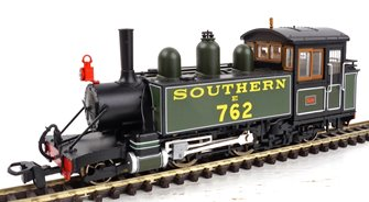 Lynton & Barnstaple Baldwin 2-4-2TSouthern Maunsell green E762 Lyn (1929-32)
