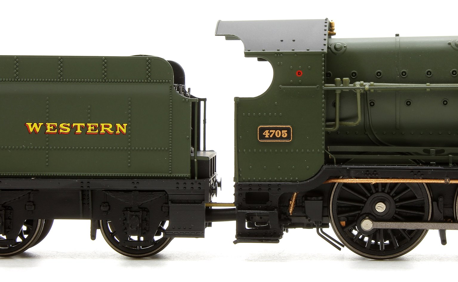 47XX Class Night Owl 2-8-0 Locomotive No.4705 in green with GREAT WESTERN lettering