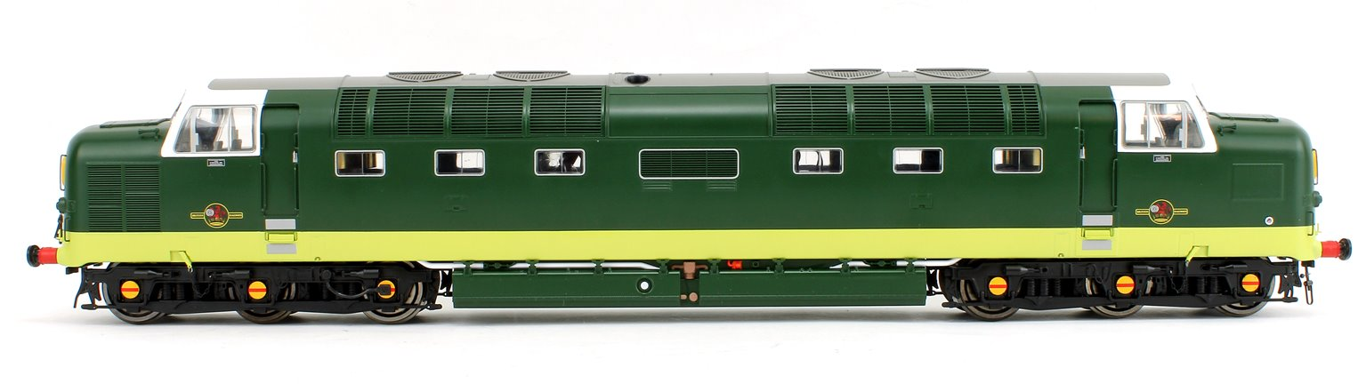 Class 55 Deltic (Un-Numbered) BR Green with Small Yellow Panels Diesel Locomotive