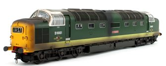 """Class 55 Deltic """"St. Paddy"""" D9001 BR Green Diesel Locomotive (Weathered)"""