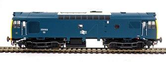 Class 25 093 (ScR/LMR) BR Rail Blue with bodyside numbers (single, centrally placed double arrows) and domino headcodes