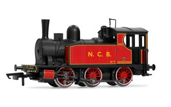 National Coal Board NCB Red 0-6-0 Steam Tank Locomotive No.7
